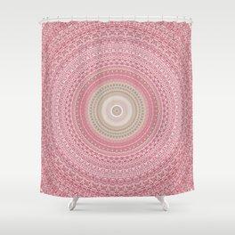 Gold Rose and Blush Boho Mandala Shower Curtain