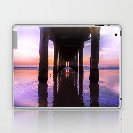 Manhattan Beach Pier at Sunset #arlenecarley #bohovantravels Laptop & iPad Skin