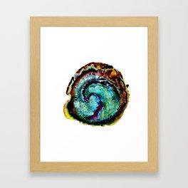 Watercolor Geode Framed Art Print