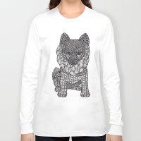 pomeranian Long Sleeve T-shirts featuring My Precious Pomeranian by DiAnne Ferrer