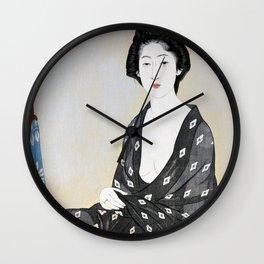 Woman in a Summer Garment Wall Clock