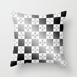 Pussy Checkerboard Abstract Throw Pillow