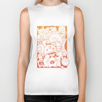 it crowd Biker Tanks featuring Monster crowd by dreadpen