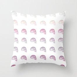 Pastel Skull Life Throw Pillow