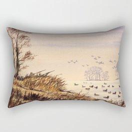 Duck Hunting Times Rectangular Pillow