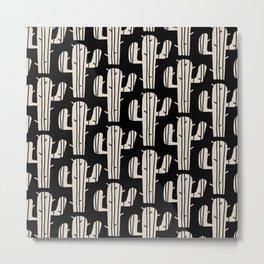 Mid Century Modern Desert Cactus Pattern 861 Metal Print