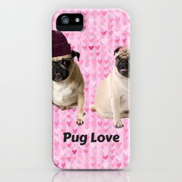 Pug Love iPhone Case