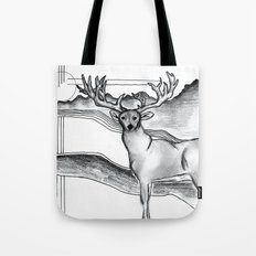 Blue Ridge Deer Tote Bag