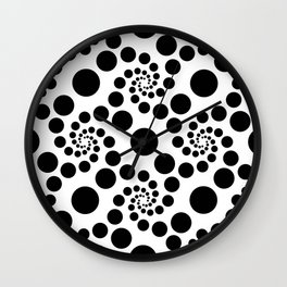 Optical Illusion Dot Spirals Wall Clock