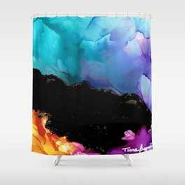 Mountainside Abstract Shower Curtain