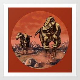 T Rex Hunters Art Print
