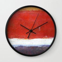 Mark Rothko Interpretation Acrylics On Paper Wall Clock