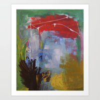 in the summer - Original painting by carina schubert Art Print