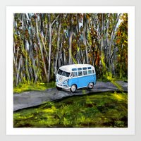 vw bus Art Prints featuring VW Bus by ThisArtToBeYours