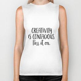 Creativity is Contagious Biker Tank