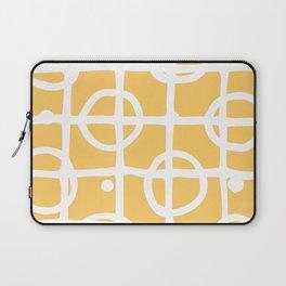 Yellow White Circle Squares Laptop Sleeve