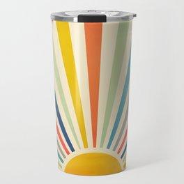 Sun Retro Art III Travel Mug