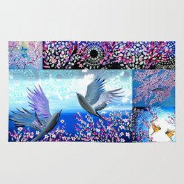 Cherry Blossom Collage Rug