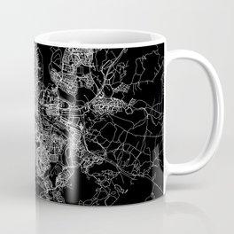 Reykjavik Black Map Coffee Mug