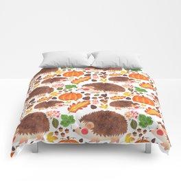 Autumn Hedgehog Comforters