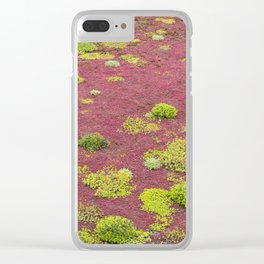 Green and Red Bogmoss Clear iPhone Case