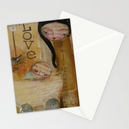 Love - mother and baby Stationery Cards