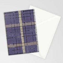 Retro pastel plaid pattern N5 Stationery Cards