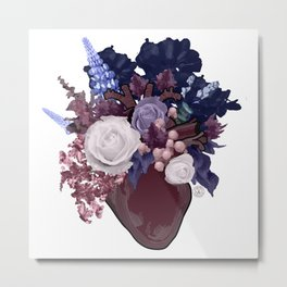 Anatomical Floral Metal Print