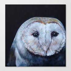 Dark Barn Owl Canvas Print