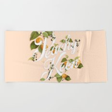 Peachy Keen : Peach Beach Towel