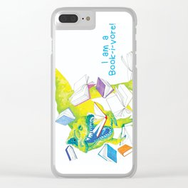 I am a Book-i-vore! Clear iPhone Case