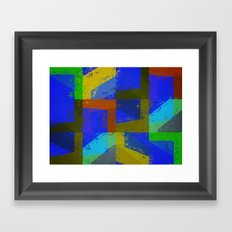 Colorful Truth. Blue. Framed Art Print