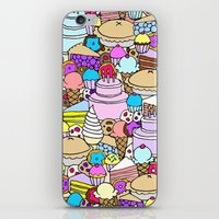 dessert iPhone & iPod Skins featuring Dessert by Julia Emiliani