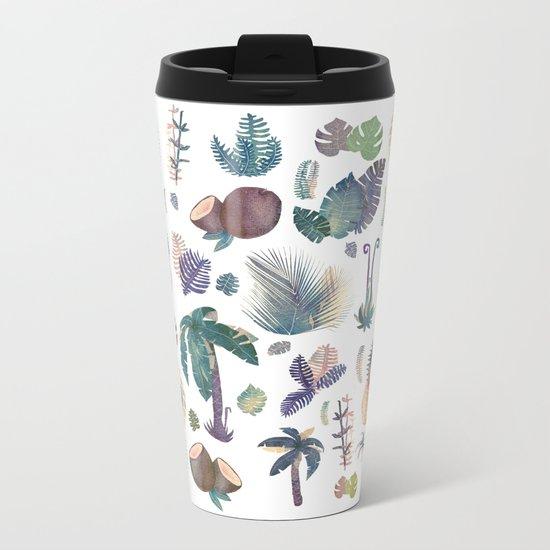 tropical nature pattern!! Metal Travel Mug