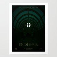 bioshock Art Prints featuring Bioshock by Alecxps