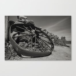 Broken Wagon Wheel Canvas Print
