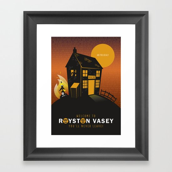 Are you local? Framed Art Print