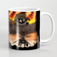 attack on titan Mugs featuring A Quack on Titan by ADobson