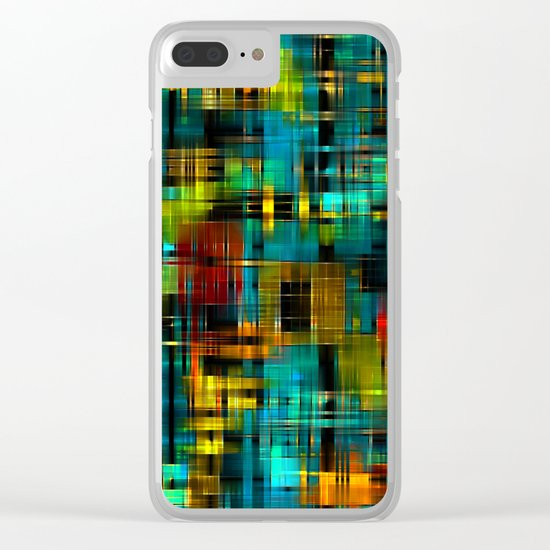 Art splash brush strokes paint abstract seamless pattern print background Clear iPhone Case