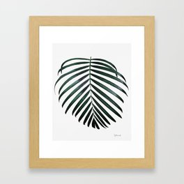 Simply Green Framed Art Print