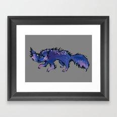 stray cat Framed Art Print