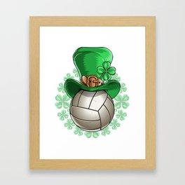 Volleyball St. Patricks Day 2 Framed Art Print