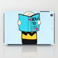 snoopy iPad Cases featuring How to conquer a woman's heart by Alexandre Reis