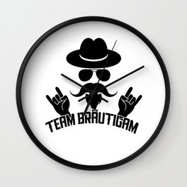 Team Brautigam Wall Clock