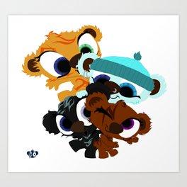 BearBox Groupie Art Print
