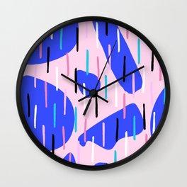 Bright Lines Organic Shapes Pattern Abstract Wall Clock