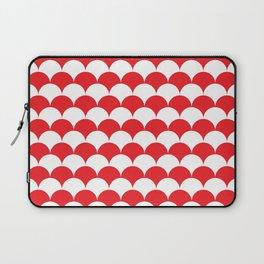 Red Fan Shell Pattern Laptop Sleeve