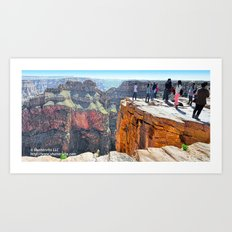 The Edge at Eagle Point Art Print