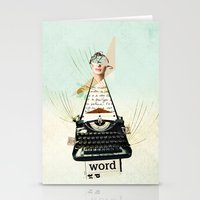 word Stationery Cards featuring Word by zando & jot