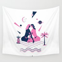 equality Wall Tapestries featuring summer love by Alba Blázquez